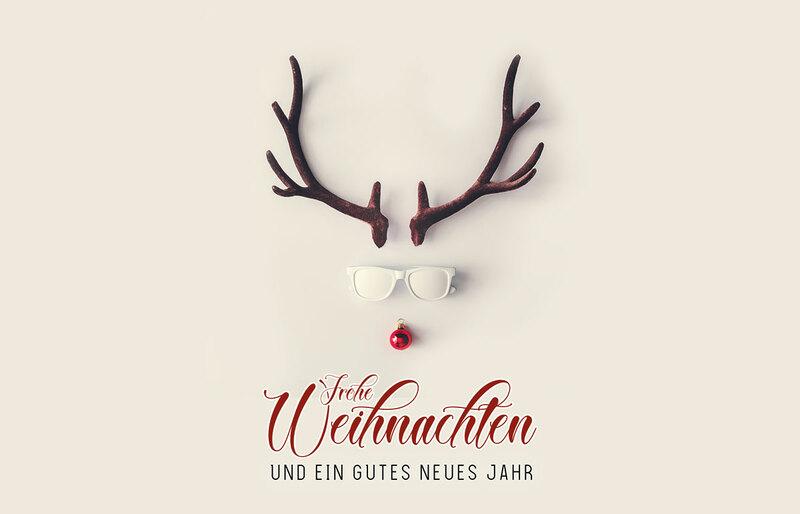 red nose hipster au ergew hnliche weihnachtskarten f r. Black Bedroom Furniture Sets. Home Design Ideas