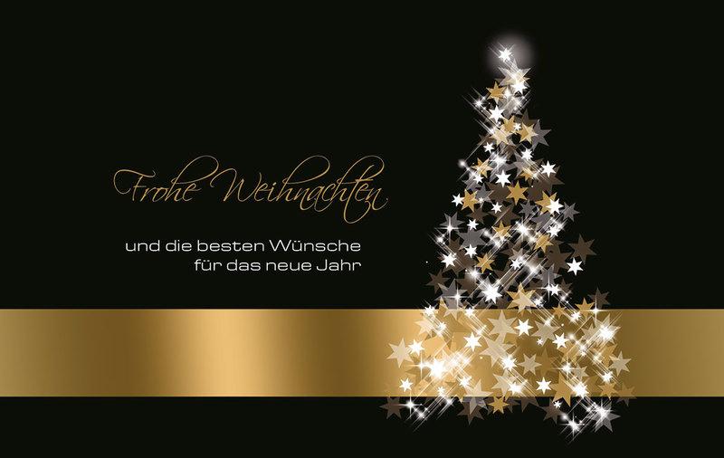 gold auf schwarz au ergew hnliche weihnachtskarten f r. Black Bedroom Furniture Sets. Home Design Ideas