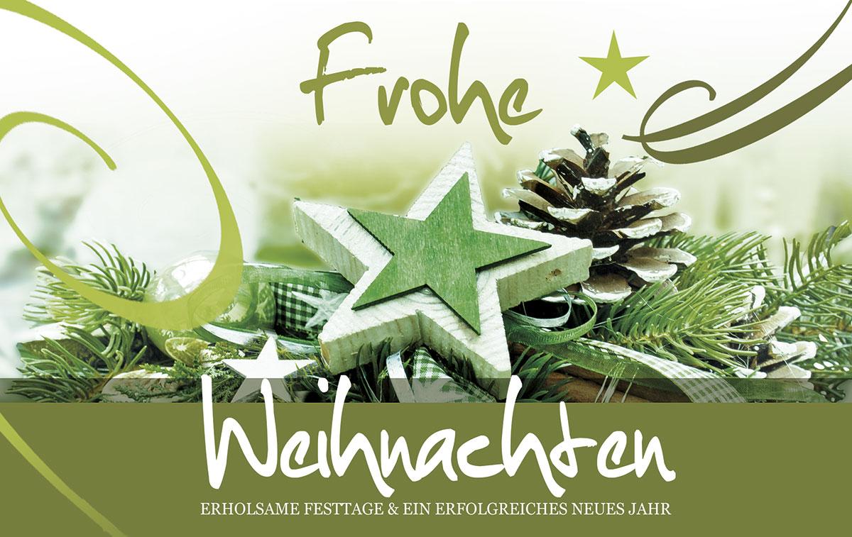 Einfach grün - Außergewöhnliche Weihnachtskarten für Firmen