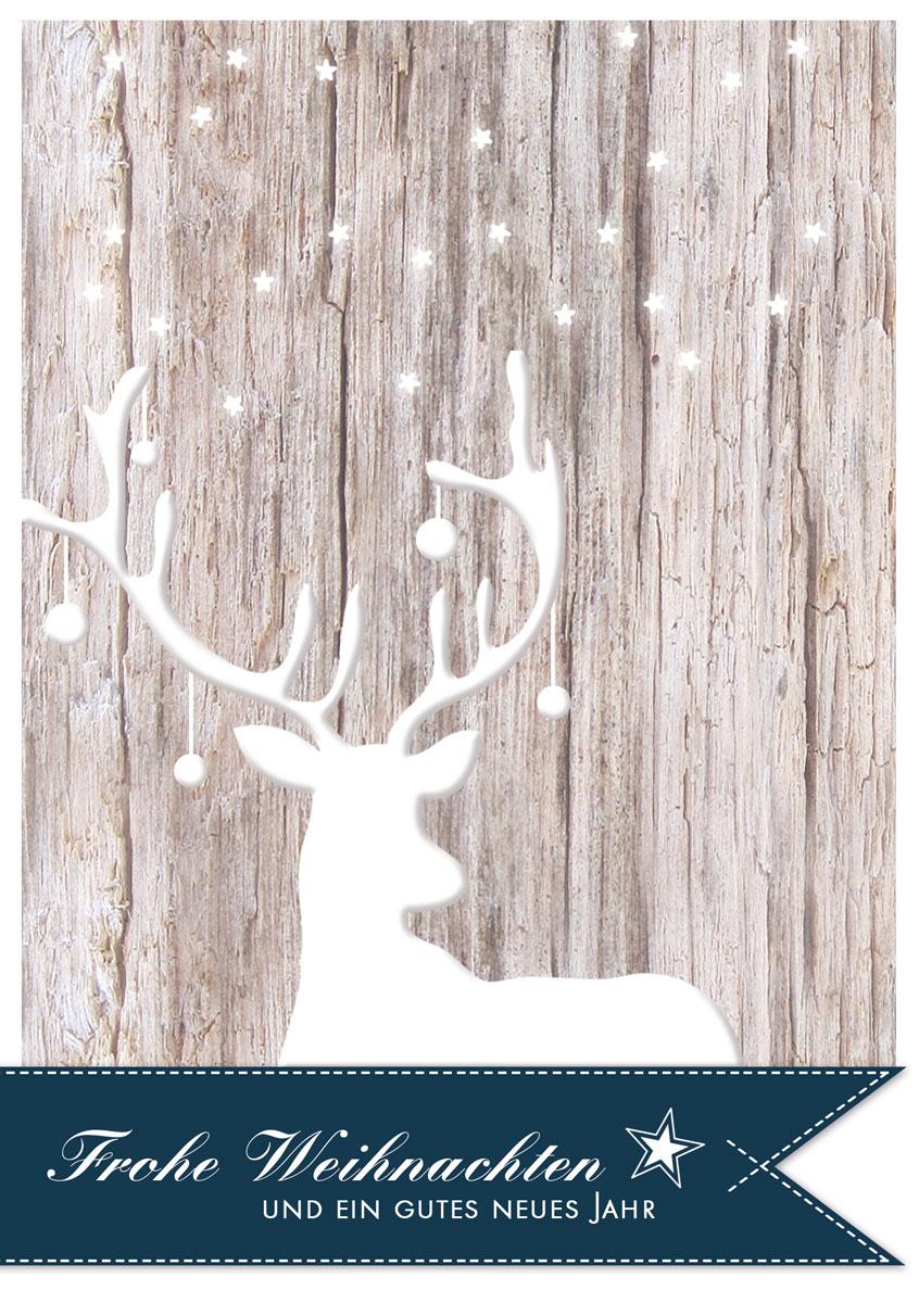 geschm ckter hirsch au ergew hnliche weihnachtskarten. Black Bedroom Furniture Sets. Home Design Ideas