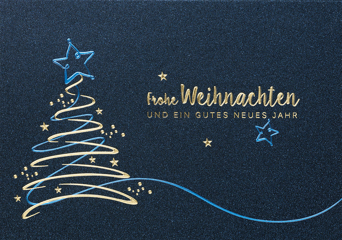 flying golden tree au ergew hnliche weihnachtskarten f r. Black Bedroom Furniture Sets. Home Design Ideas